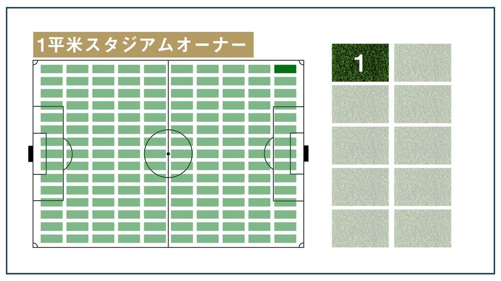 鎌倉みんなのスタジアム #鎌倉みんスタ 先行支援リターン 1平米スタジアムオーナー 芝生イメージ